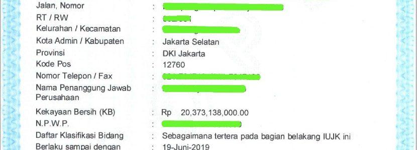 Biro Jasa Pengurusan SIUJK Jakarta Pusat